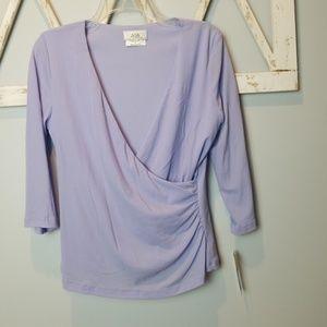 new AGB lilac wrap shirt